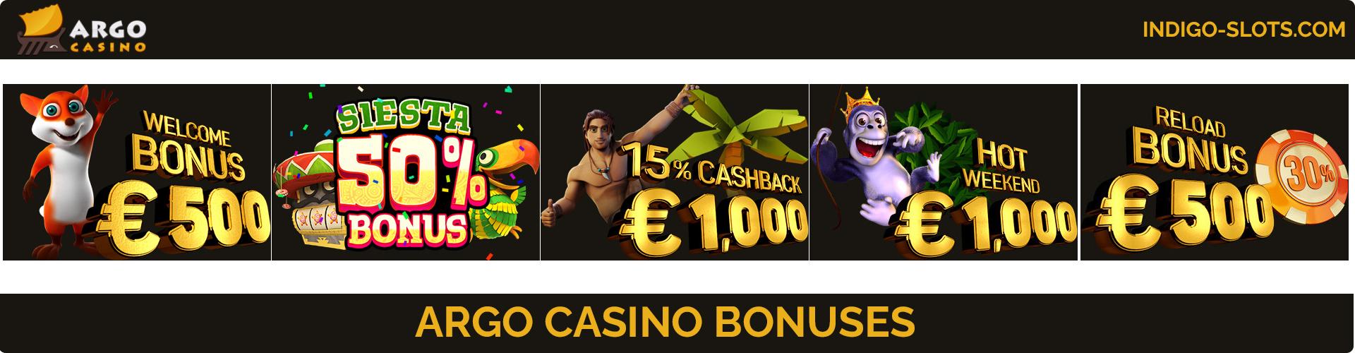 Argo Casino review bonuses.