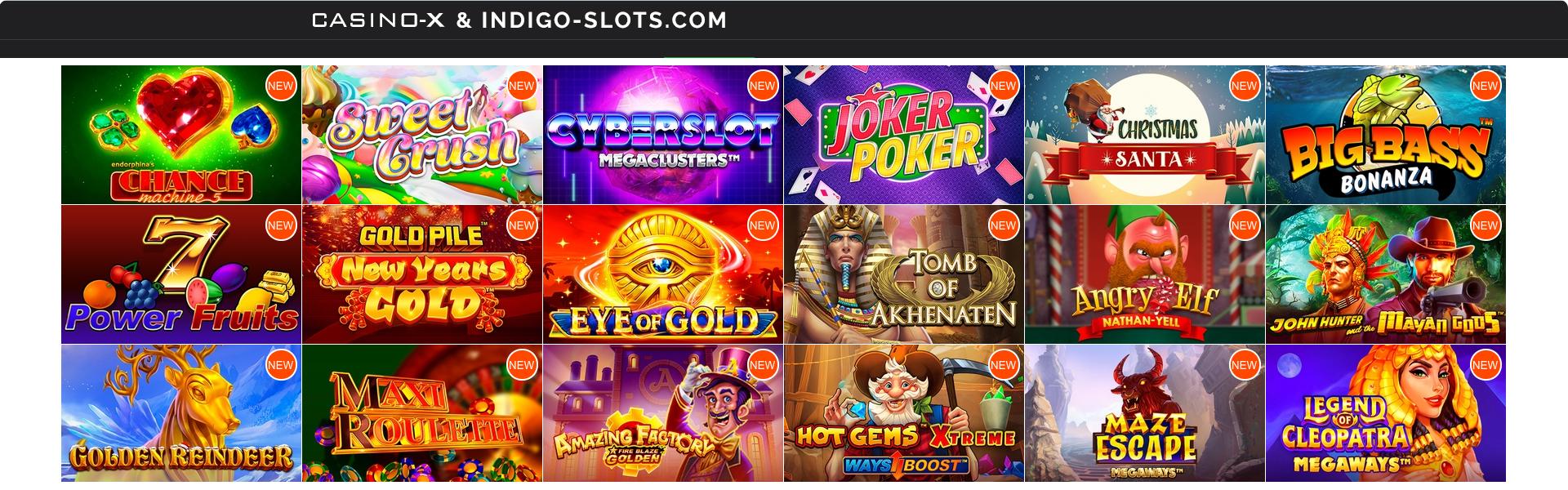 Casino-x games.