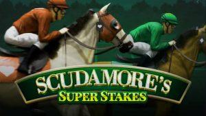 Scudamores Super Stakes logo slot.