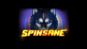 Spinsane (Wolf) slot logo.