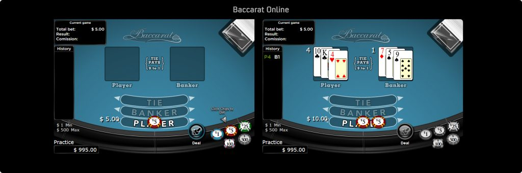 Baccarat Online for real money.