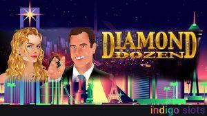 Diamond Dozen slot machine logo.