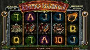 Dino Island online slot logo.