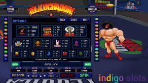 El Luchado slot machine.