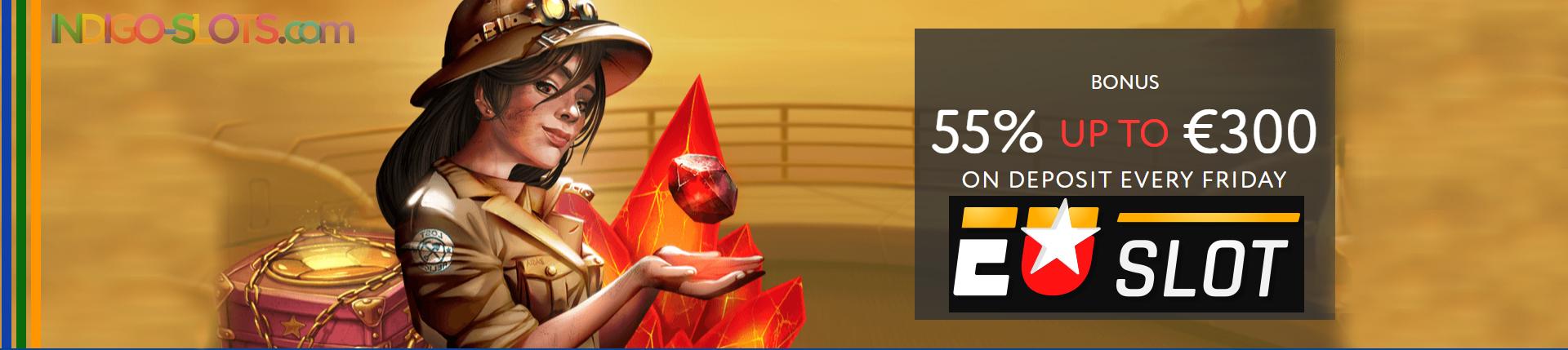 Euslot Casino Welcome Bonus.
