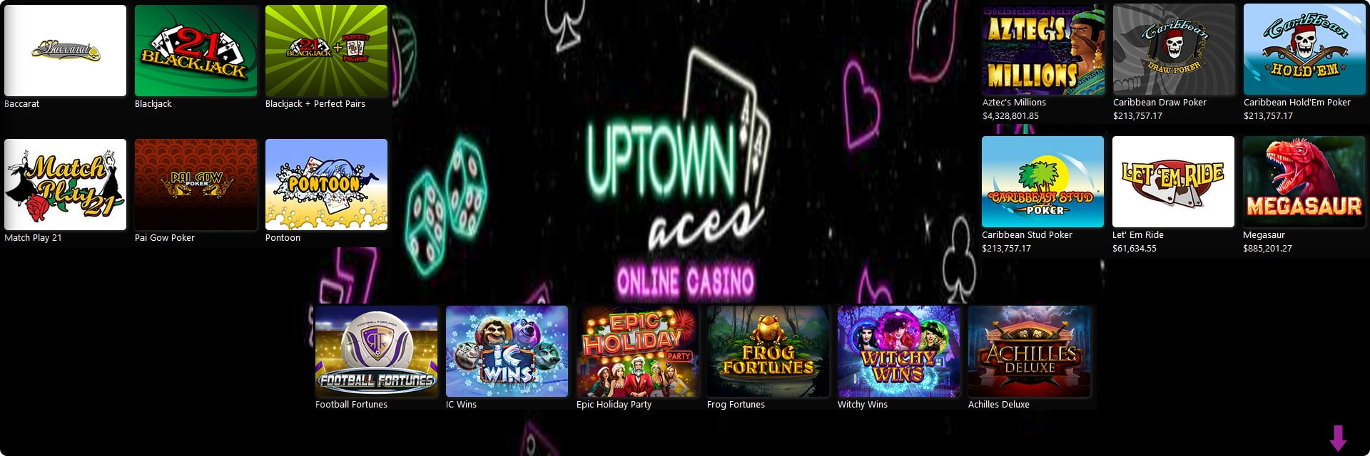 Uptown Aces Casino Slots.