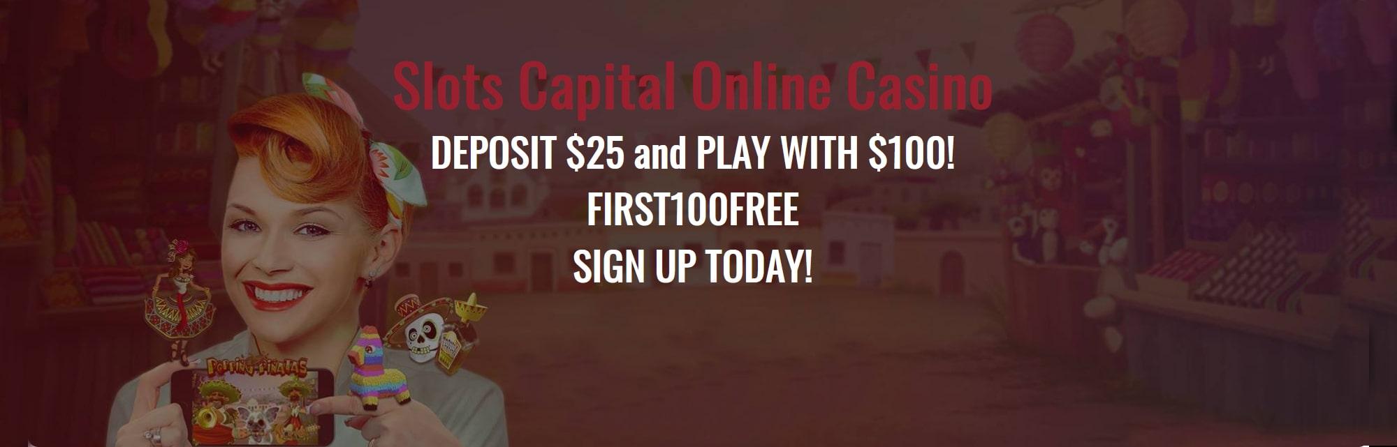 Slots Capital casino bonus $100.